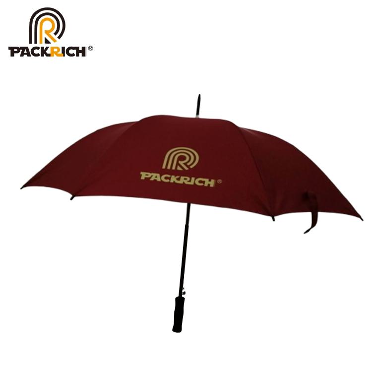 Custom Wind Proof Waterproof Big Golf Straight Umbrella