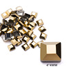 5# 4mm Square Gold
