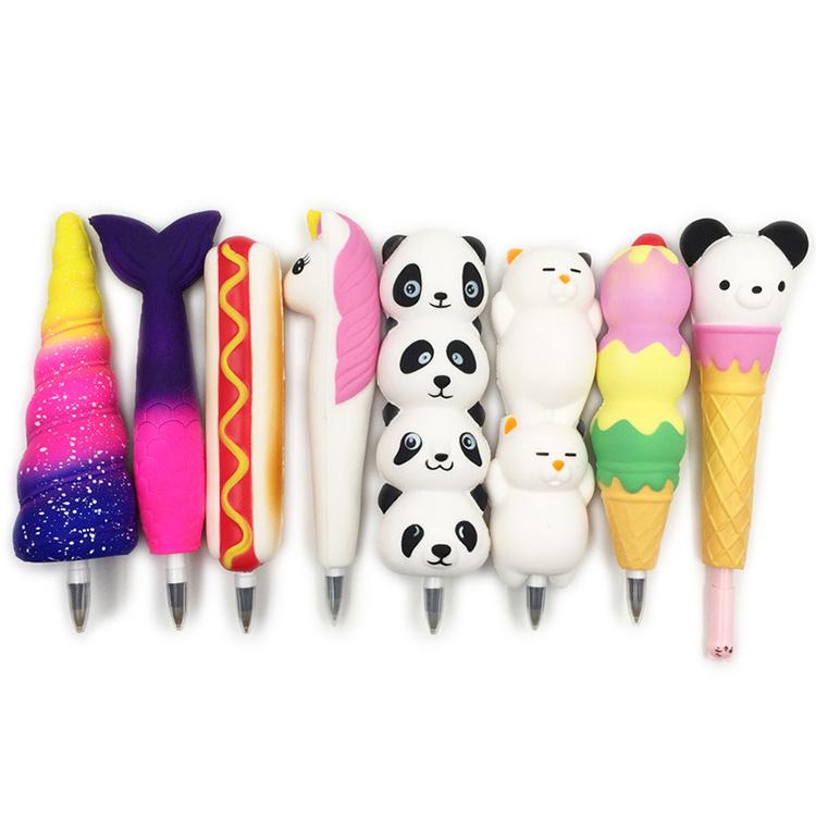 Полиуретановая медленно восстанавливающая форму игрушка милая Студенческая канцелярская ручка орнамент вентиляционная игрушка подарок медленно восстанавливающая форму мягкая ручка