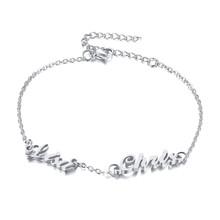 Vnox женские браслеты на заказ, 2 имени, персонализированные браслеты из нержавеющей стали для мамы и дочки, Подарок на годовщину(Китай)