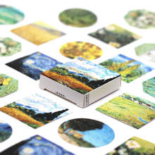 Kawaii Meeting Ван Гог васи лента DIY планер изоляционная лента стикеры Липкая лента Декоративные Канцелярские ленты 2020(Китай)