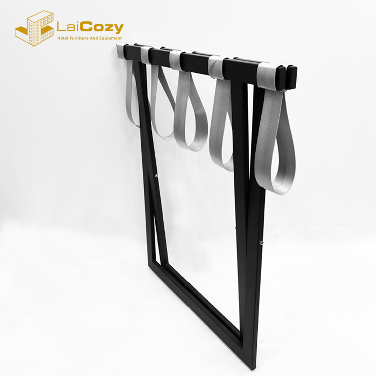 Heavy duty Hotel guest Room Foldable metal luggage rack stand