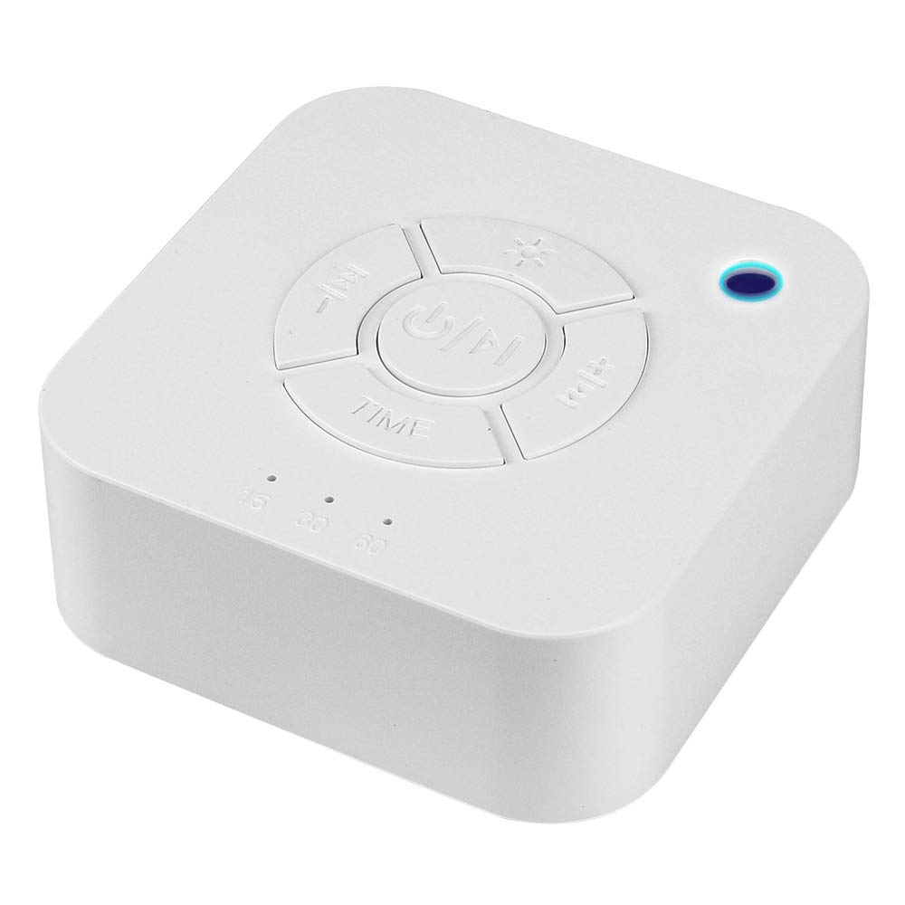 For Sleeping Travel Office Factory wholesale White Noise Machine Baby USB Portable LED Sound Therapy sleep machine trainer