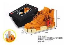 Спортивная баскетбольная обувь строительные блоки кроссовки Модель ручка контейнер кирпичи мини пенал игрушки для детей Канцтовары(Китай)