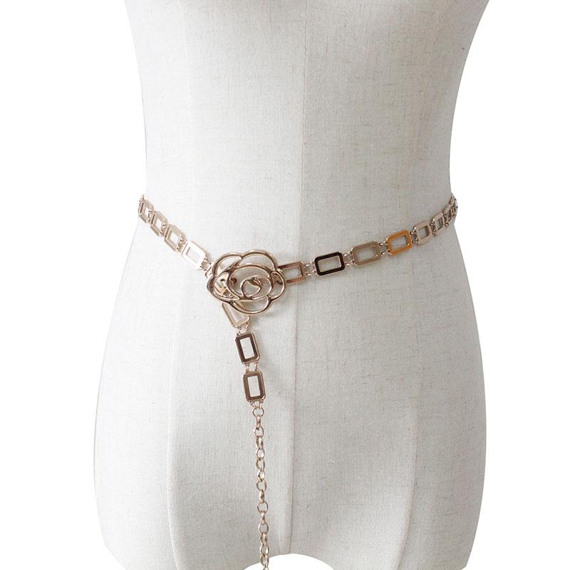 Индивидуальная мода, Прямая продажа с фабрики, женский ремень на цепочке, украшение для платья, дизайнерский золотой пояс на талию, женские ремни на цепочке