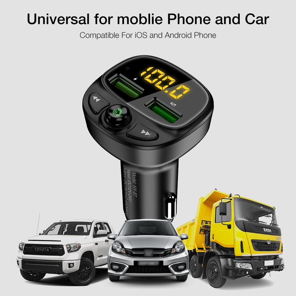 Бесплатная доставка 1 образец ок двойной Usb мобильный телефон зарядка Mp3 музыкальный плеер для Bluetooth Fm передатчик автомобильное зарядное устройство