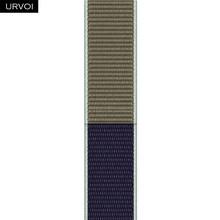 URVOI спортивный ремешок для apple watch series 5 4 3 2 1, светоотражающий ремешок для iwatch, тканый нейлоновый двухслойный дышащий ремешок 2020(Китай)