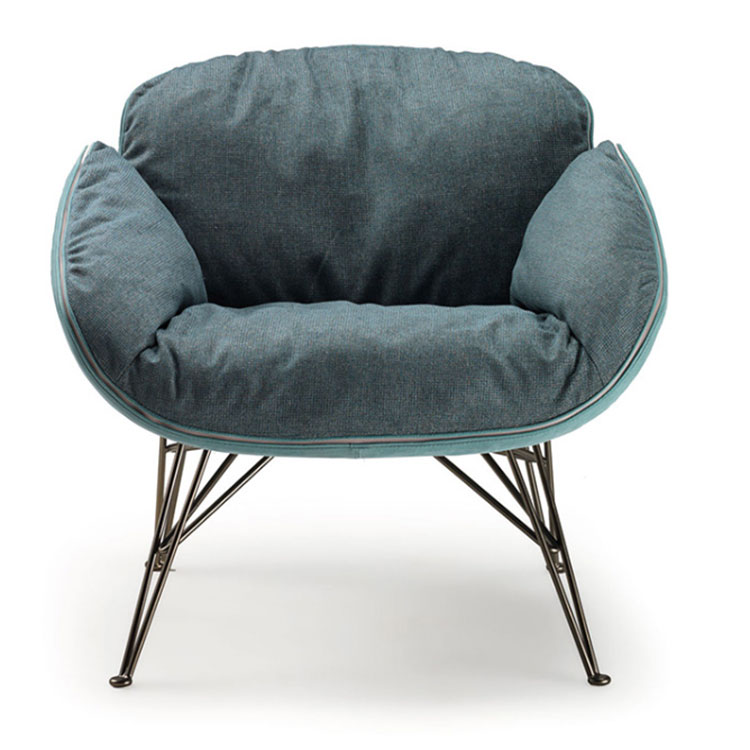 Nordic cloth art sofa can be dismantled and washed lazy person sofa  sitting room bedroom single person sofa stylist chair