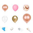 Wedding Decoration Decoration Cross Border Hot Sale ROSE GOLD SEQUIN Latex Balloon Birthday Party Supplies Wedding Decoration Balloon Set