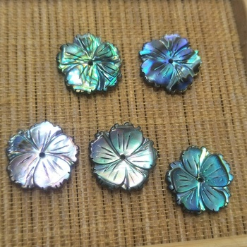 Wholesale hand carved abalone shell flower fashion women jewelry accessories material