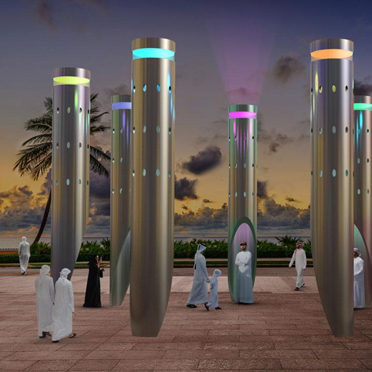 2020 high quality stainless steel modern light decorative sculpture