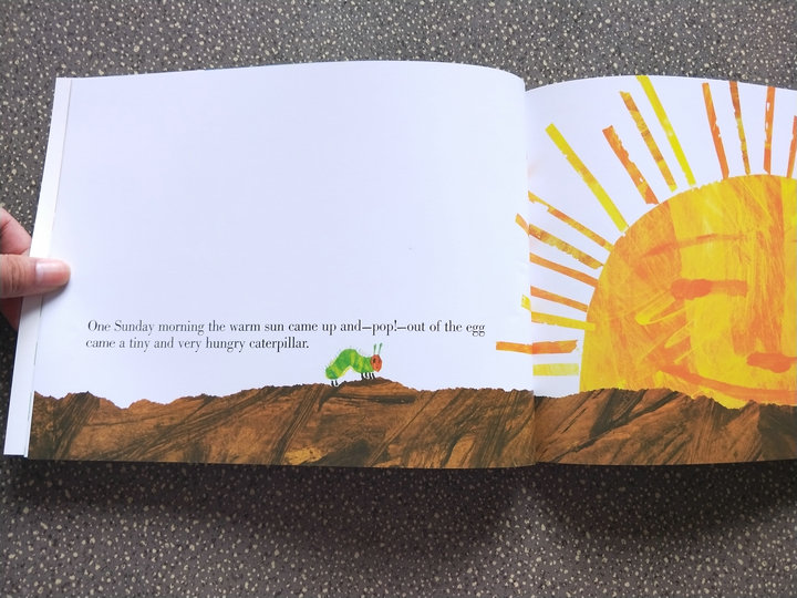 eric carle children book The Very Hungry Caterpillar for children initiation