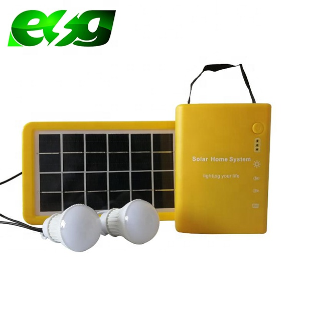 Energy saving  for home use low LED panel light 6v3w rechargeable solar lighting system
