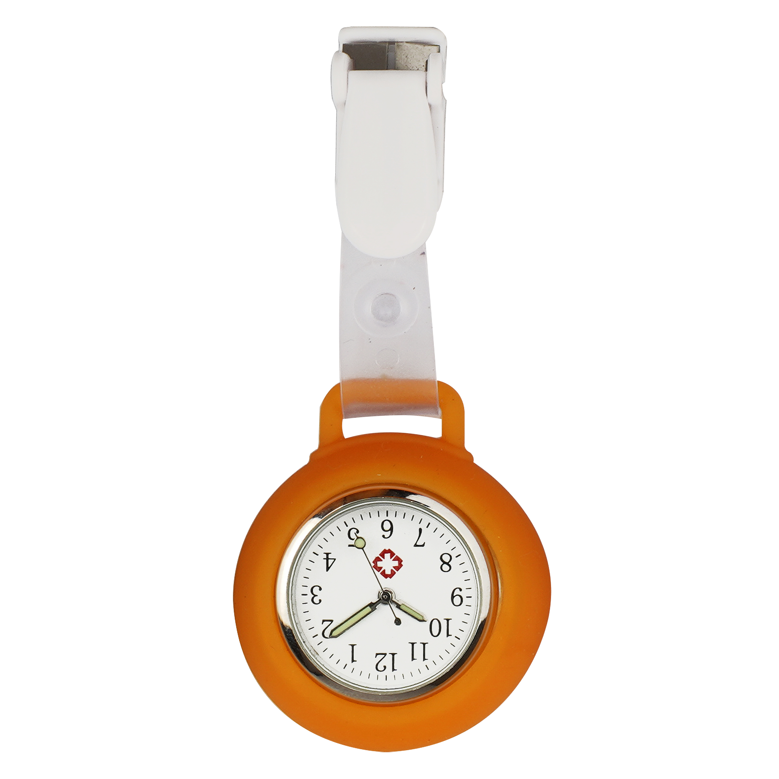 Nurse Watches Red silicone clip on medical fob watch professional dial