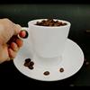 120 ml/ถ้วยกาแฟและจานรอง