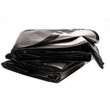 Брезентовый черный пластиковый лист из полиэтилена высокой плотности 150 г/м2