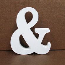 1 шт. белые деревянные буквы Английский алфавит слово индивидуальный дизайн Искусство ремесло свободно стоящее сердце форма Свадебный дома...(Китай)