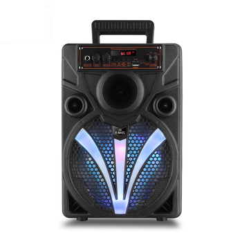 Coloful lighting 8 inch box speaker karaoke party portable bluetooth speaker with microphone