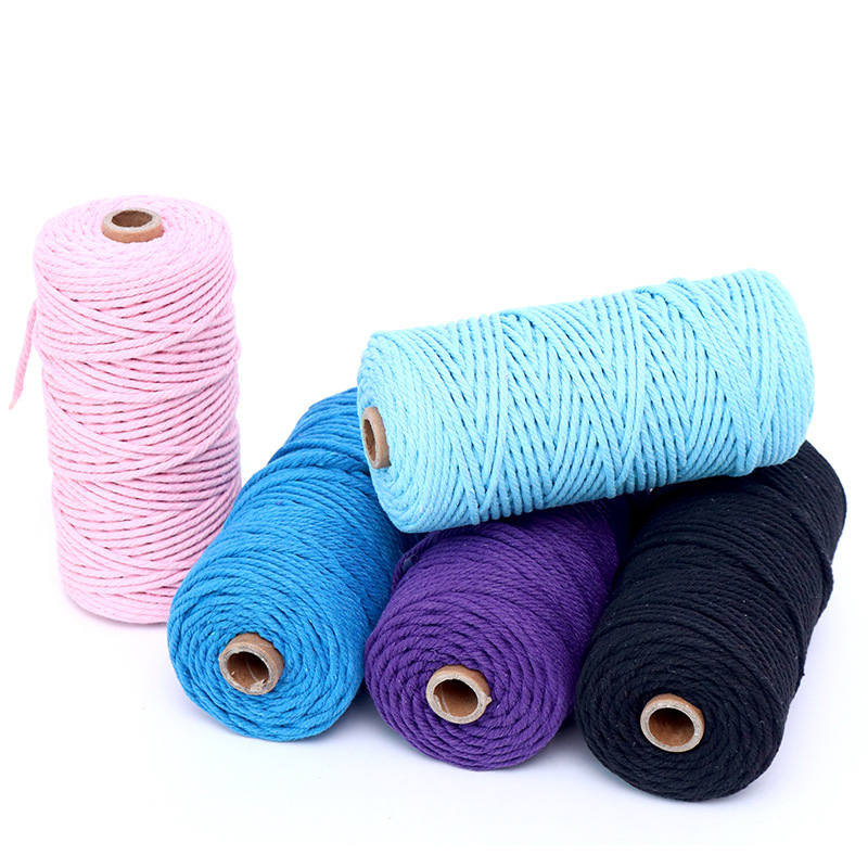 2mm to 8mm 100% Cotton macrame cord makramee garn for wall hanging