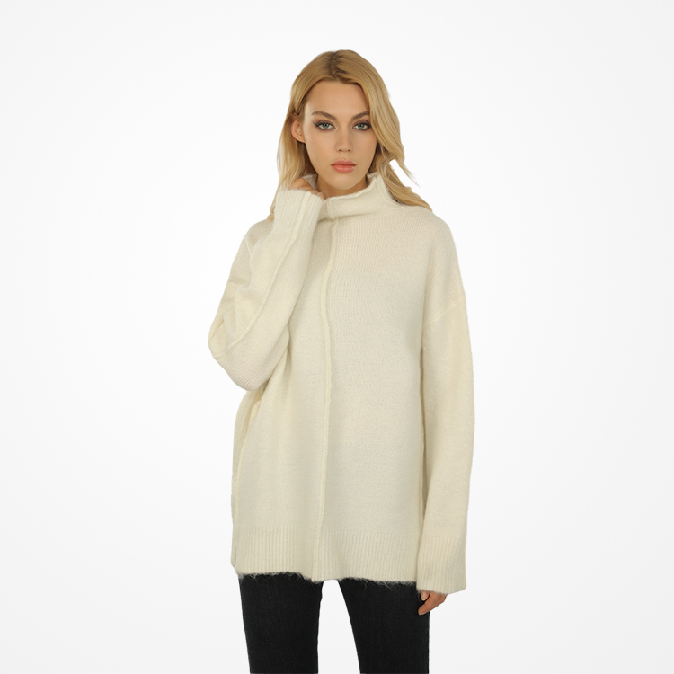 2021 New Design Customize Knitted Winter Cashmere Wool Pullovers Sweater Momen Turtle Neck Pullover
