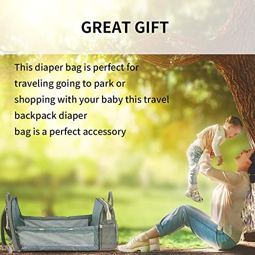 Multifunctional travel bassinet foldable baby bed, portable diaper changing station mummy bag backpack, travel Crib