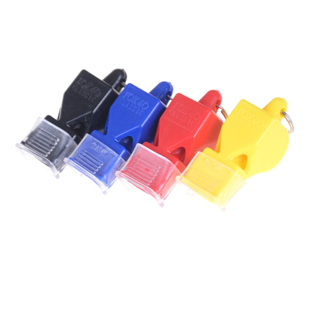 Professional Plastic Soccer Football Basketball Hockey Baseball Sports Classic Referee Whistle with Lanyard
