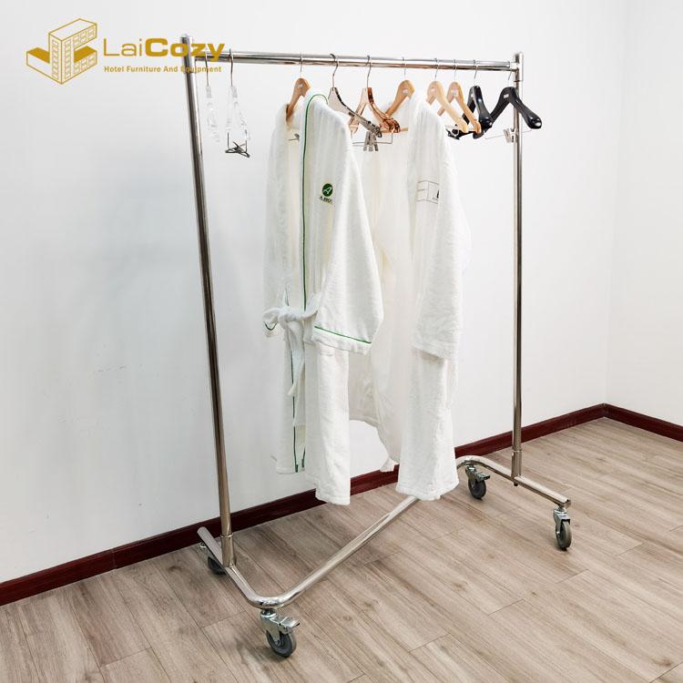 Stainless Steel Wardrobe Trolley On Wheels Clothes Rack With Wheels  Clothes Rack Trolley Z Hanger Trolley