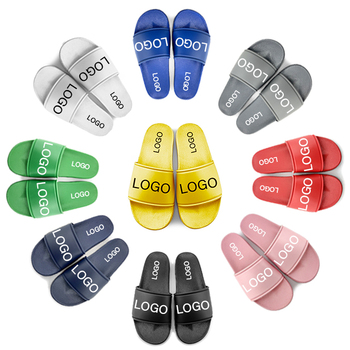 Greatshoe customize made men slippers brand name blank slide sandal,customize summer beach pvc sliders slippers for men