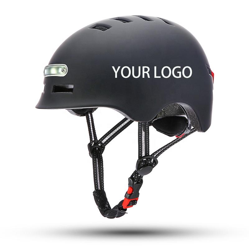 Safety sport protective Children Adult Led Head and rear led light Scooter Helmet for Helmet e-Bike