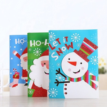 Factory Wholesale Birthday/Holiday/Christmas Greeting Card Christmas Gift Card For Holiday Home Party Decorations