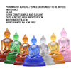 4 Inch Glass Pharmacist Seven Buddhas/Zun