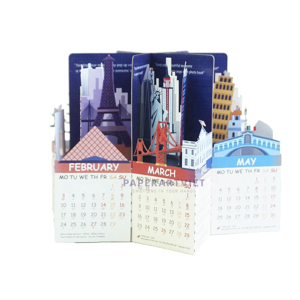 Handmade Planner Wall Pop Up Calendar 2022 Desktop Calendar Buy Table Calendar Calendar Notebook Custom Desk Calendar Product On Alibaba Com