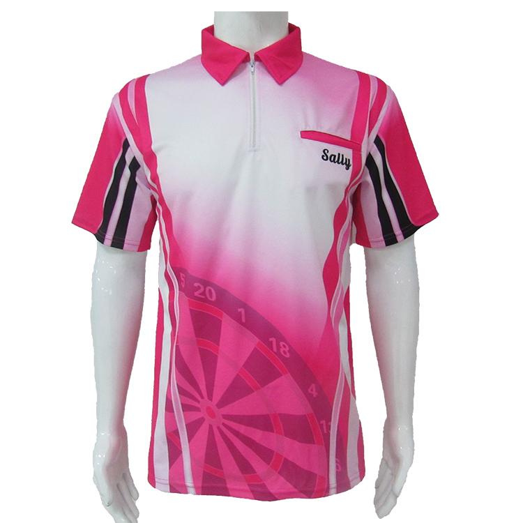 Рубашка-поло из 100% полиэстера с коротким рукавом