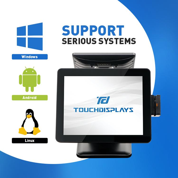 Лидер продаж Pos-система все в одном с сенсорным экраном/двойным экраном Android Pos для розничной системы ресторана