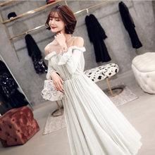 Платье для выпускного вечера It's Yiiya R216 Бордовое платье с вырезом лодочкой бордовое торжественное платье с пышными рукавами и блестками ТРАП...(Китай)