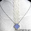 White gold light blue agate