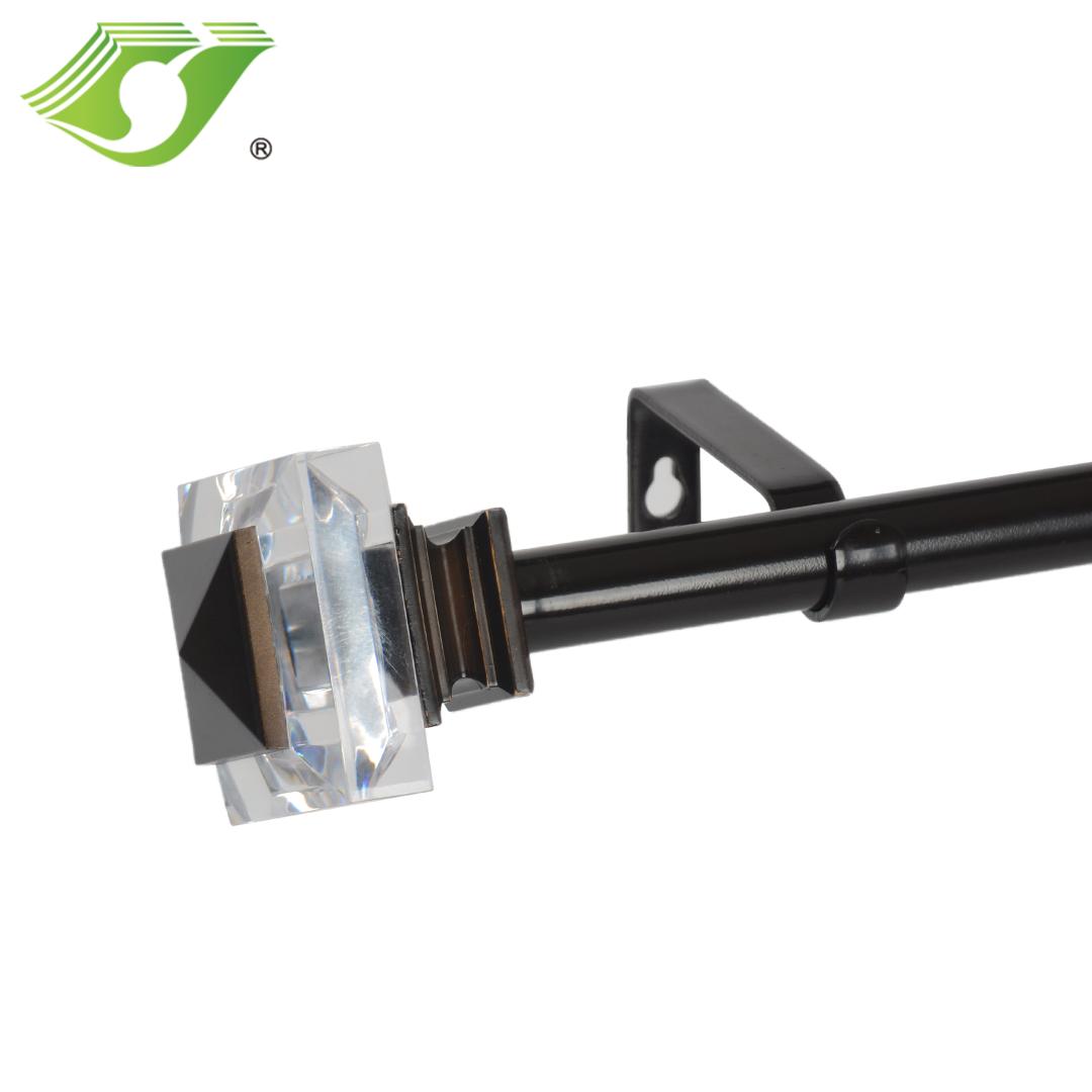 adjustable drapery single curtain rod hardware set