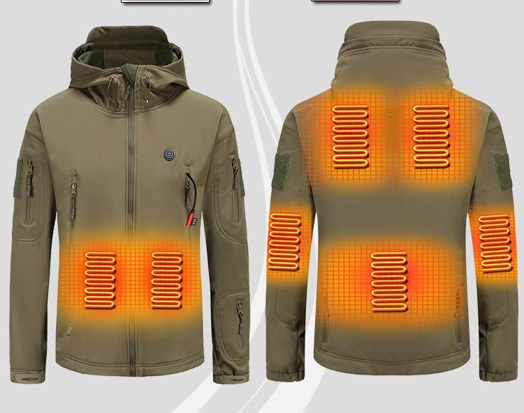 Новинка Осень-зима 2020 Мужская Умная Автоматическая Теплая Бархатная утепленная Лыжная уличная куртка