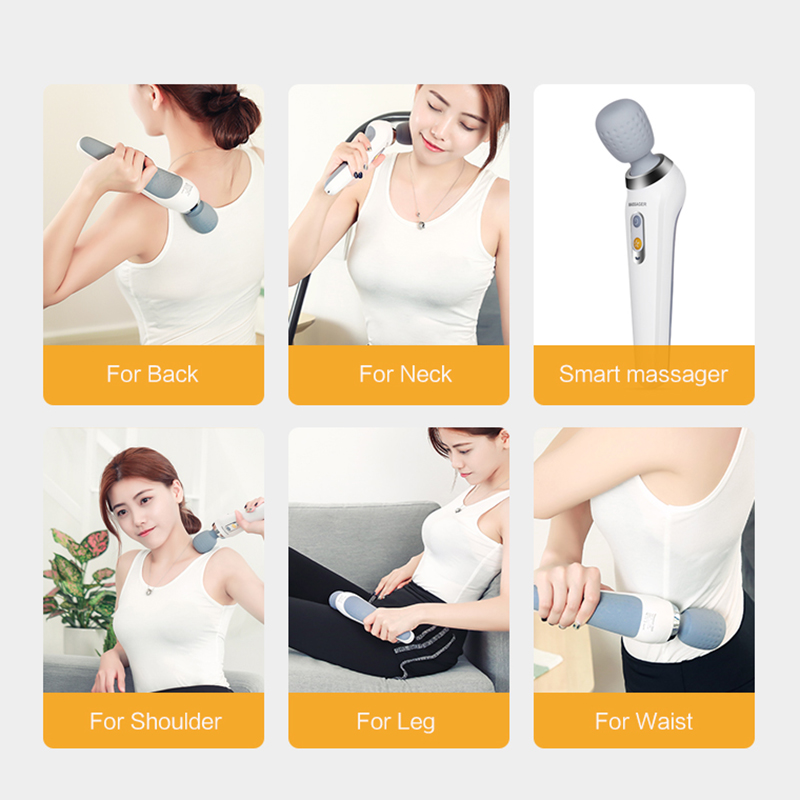High Quality Rechargeable Personal Wireless Handheld Waterproof Therapeutic Cordless Vibrating Wand Massager Vibrator