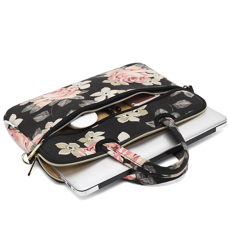 Portable waterproof Durable leisure Travel office canvas Briefcase tote Notebook Case Laptop bag for women