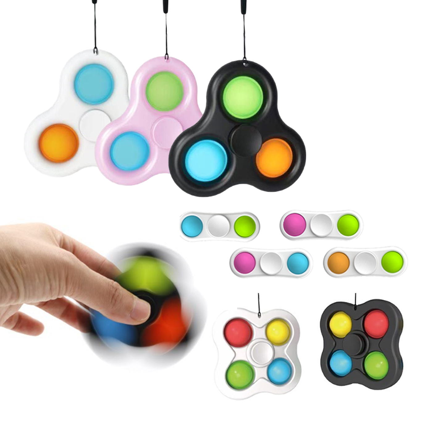 Push pop Bubble Sensory Fidget Toy, Among US Autism Special Needs Stress Reliever Silicone Stress Reliever Toy