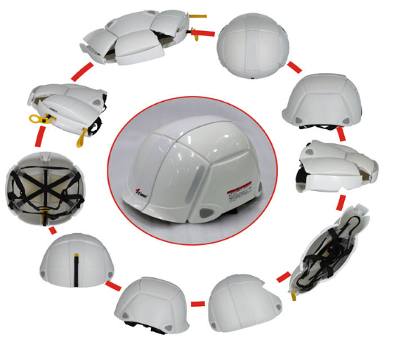 360 degree to protect your head high quality customized logo and folding storage carrying safety helmets