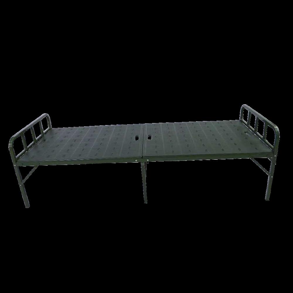 Недорогая ручная портативная одноместная складная стальная металлическая кровать для кемпинга Больничная складная кровать