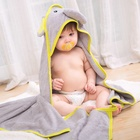 450GSM 100% Bamboo 85 x 85 cm Cute Animal Design Baby Hooded Towel Children Cotton Bath Towel