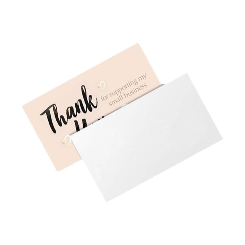 50 шт./компл. спасибо за вашу помощь визитная карточка открытка с благодарностью
