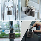 Lock 2021 Hot Sale Fingerprint Padlock Amazon And Ebay Top Seller Support OEM/ODM Custom Logo Bike Lock