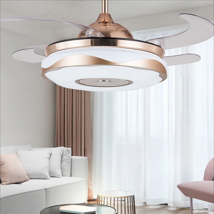 2020 Ceiling decoration modern led ceiling fan energy saving remote control ceiling fan with light