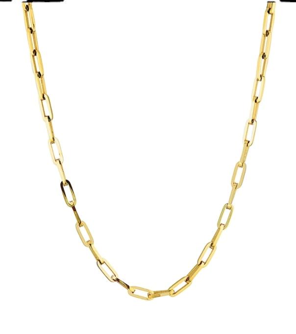 2021 Новая конструкция из нержавеющей стали для мужчин и женщин, цепочка ожерелье позолоченное большое Anch цепи ожерелье ювелирные изделия