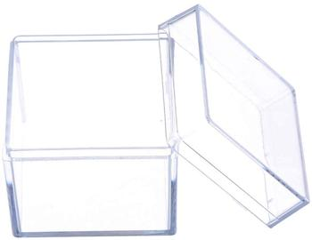 Jewelry Display Storage Box Case Square Cube Props Box Customized Small Square Clear Plastic Package Storage Box
