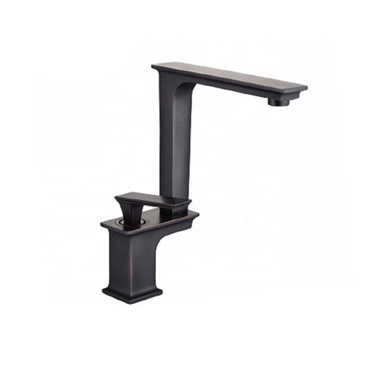Новое поступление латунь матовый черный умывальник смеситель для воды кран с одной ручкой orb смеситель для ванной комнаты